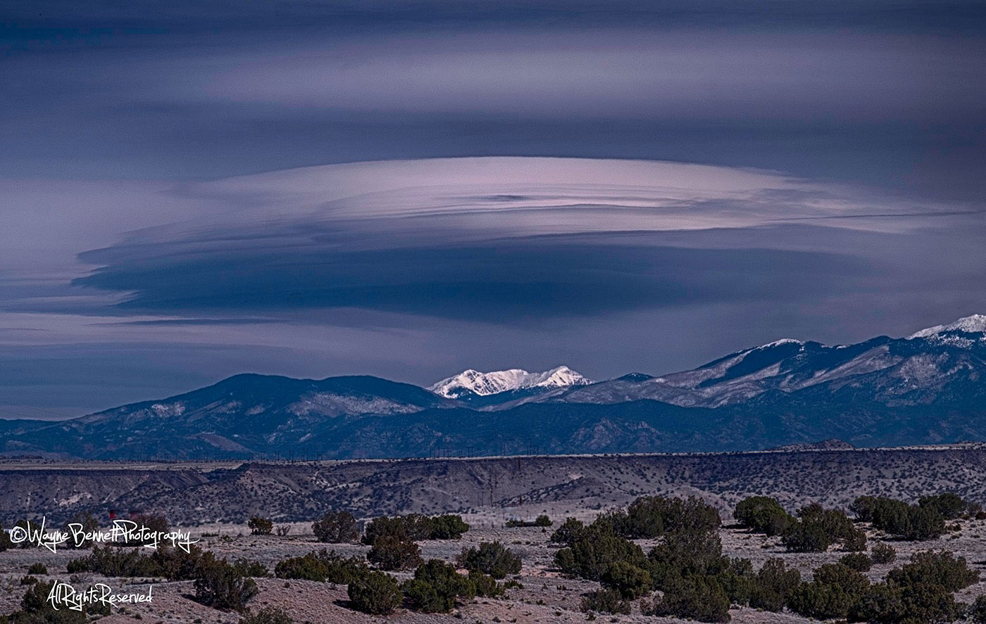 New Mexico-Lenticular Cloud over Sangre de Christo Mtns
