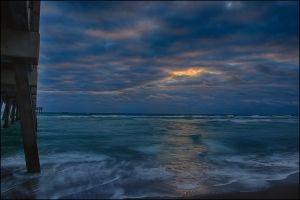 Colorful Sky and Surf Juno Beach.jpg